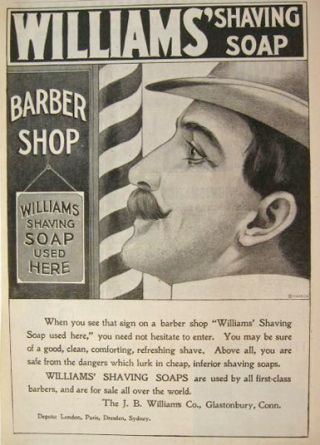 vintage Williams shave soap AD