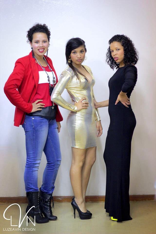 Sparkling Gold V-neck Dress made and design by Luzeavin Design