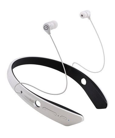 Loving this White Logo Wireless Bluetooth Neckband Headphones on #zulily! #zulilyfinds