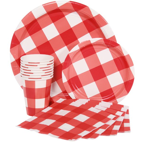 Red Gingham Express Party Package for 8 at Birthday Direct  sc 1 st  Pinterest & 178 best ~ Gingham ~ images on Pinterest | Backyard picnic Blue ...