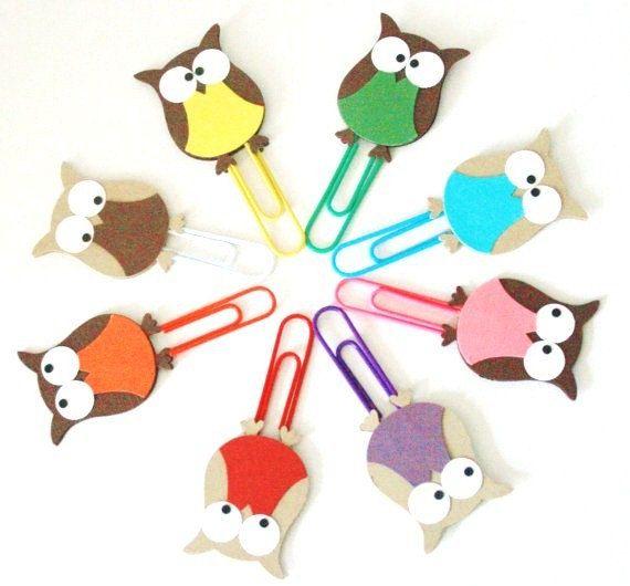 Decorative Paper Clips Owl - bjl