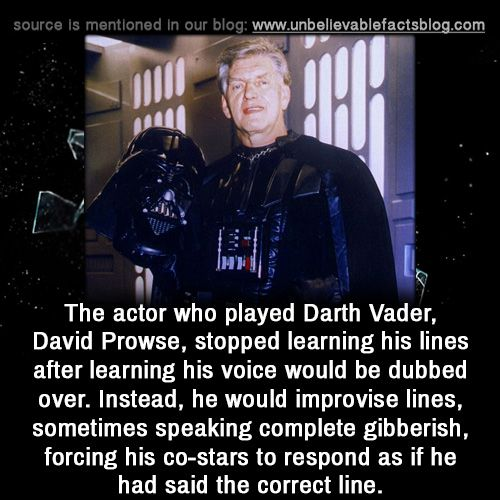 Because Darth Vader was, is, and always will be that snarky asshole.