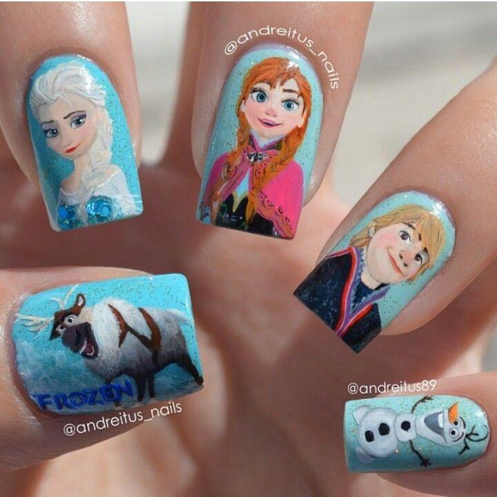 Disney's Frozen Nails! @Tina Paulsen Antle