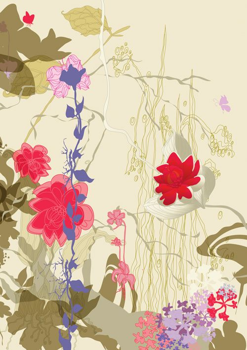Surface designs - Gardens of Eden by Ella Tjader, via Behance
