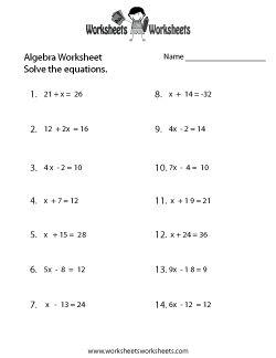 Best 25+ Algebra worksheets ideas on Pinterest