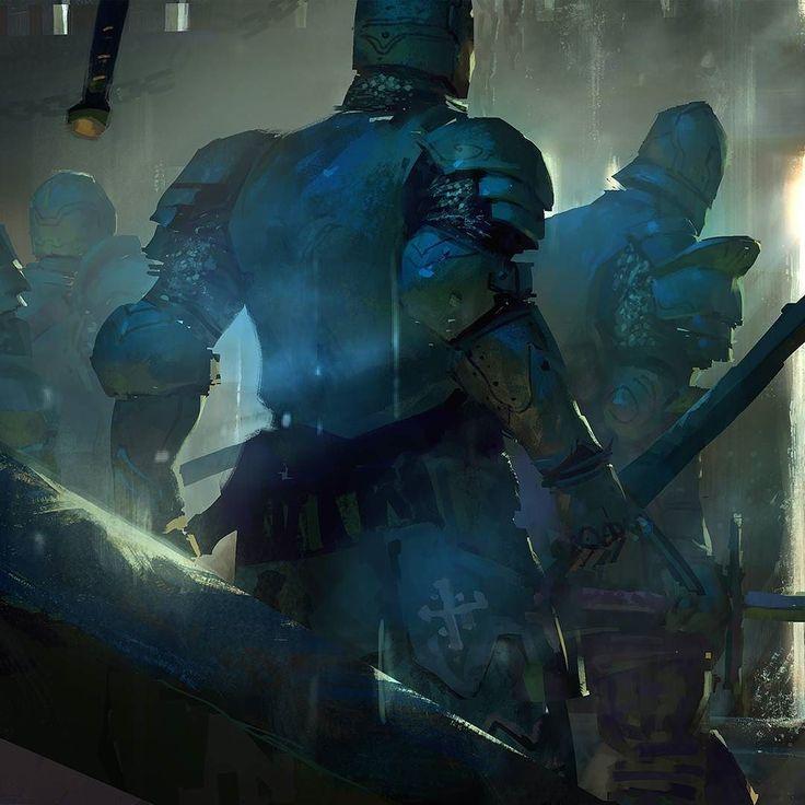 #ForHonor concept art focused on mood  light and color.  #conceptart #art #digitalart #artdirection #artursadlos #cgart #games #game #cinematic #trailer #knight #medieval #armor #sword #picoftheday #artoftheday #instaart #instagood