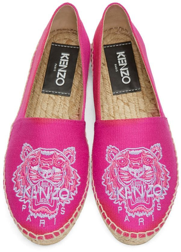312b431a352 Kenzo - Pink Canvas Tiger Espadrilles | Kenzo in 2019 | Kenzo ...