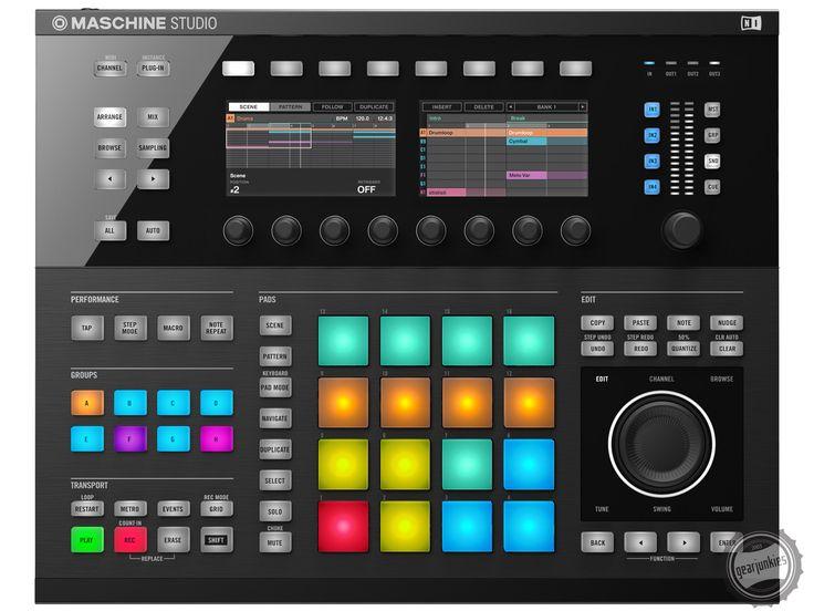Gearjunkies.com: Native Instruments New Flagship MASCHINE STUDIO Announced
