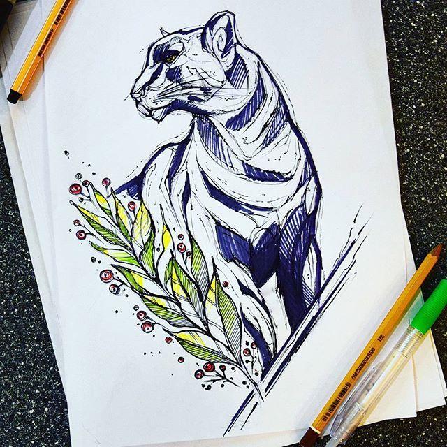 Artist?  panther cat