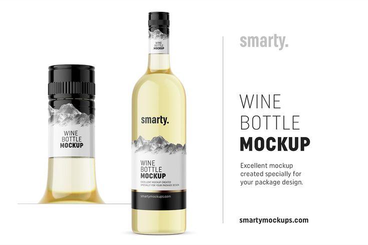 White Wine Bottle Mockup Bottle Mockup Wine Bottle Bottle