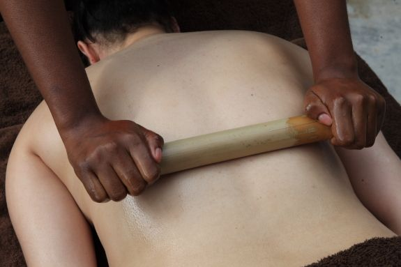 African Bamboo Massage It's an African way to provide Swedish or Deep Tissue Massage using heated bamboo to roll and knead the tissue to create an extreme sensation of relaxation and well-being
