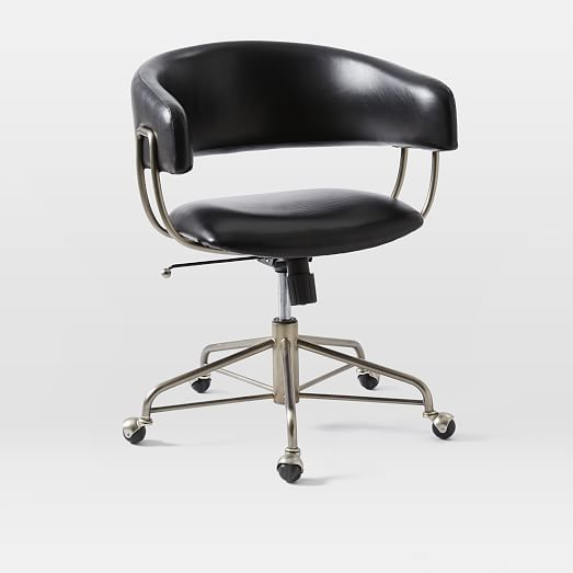 "$499  Dimensions: 23.5""w x 20.5""d x 31""h. Halifax Leather Office Chair 