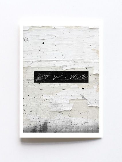 Greeting card by Sophie Klerk, *you + me'