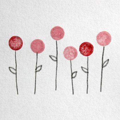 Pencil Eraser Stamping flowers