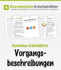 Kostenlose Arbeitsblätter und Unterrichtsmaterial für den Deutsch-Unterricht zum Thema Vorgangsbeschreibungen in der Grundschul