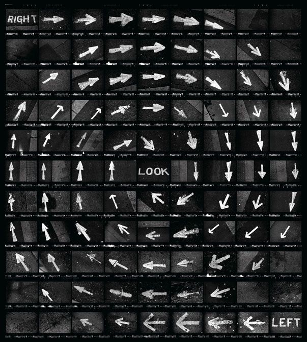 """Martin Wilson's Contact Sheets These are quite amazing — Wilson shoots each photo on film with the contact sheet in mind, the end result is a kind of comic """"strip"""", or image made up of the smaller images."""