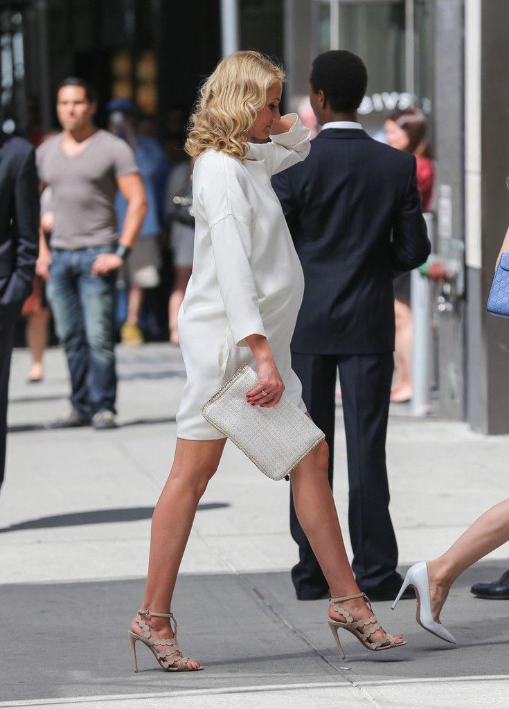 Splurge: Cameron Diaz's The Other Woman Set Stella McCartney Falabella Tweed Shoulder Bag and Azzedine Alaïa Cutout Stiletto Sandals