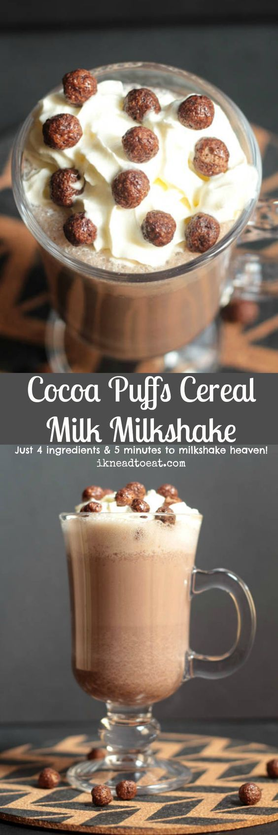 Cocoa Puffs Cereal Milk Milkshake
