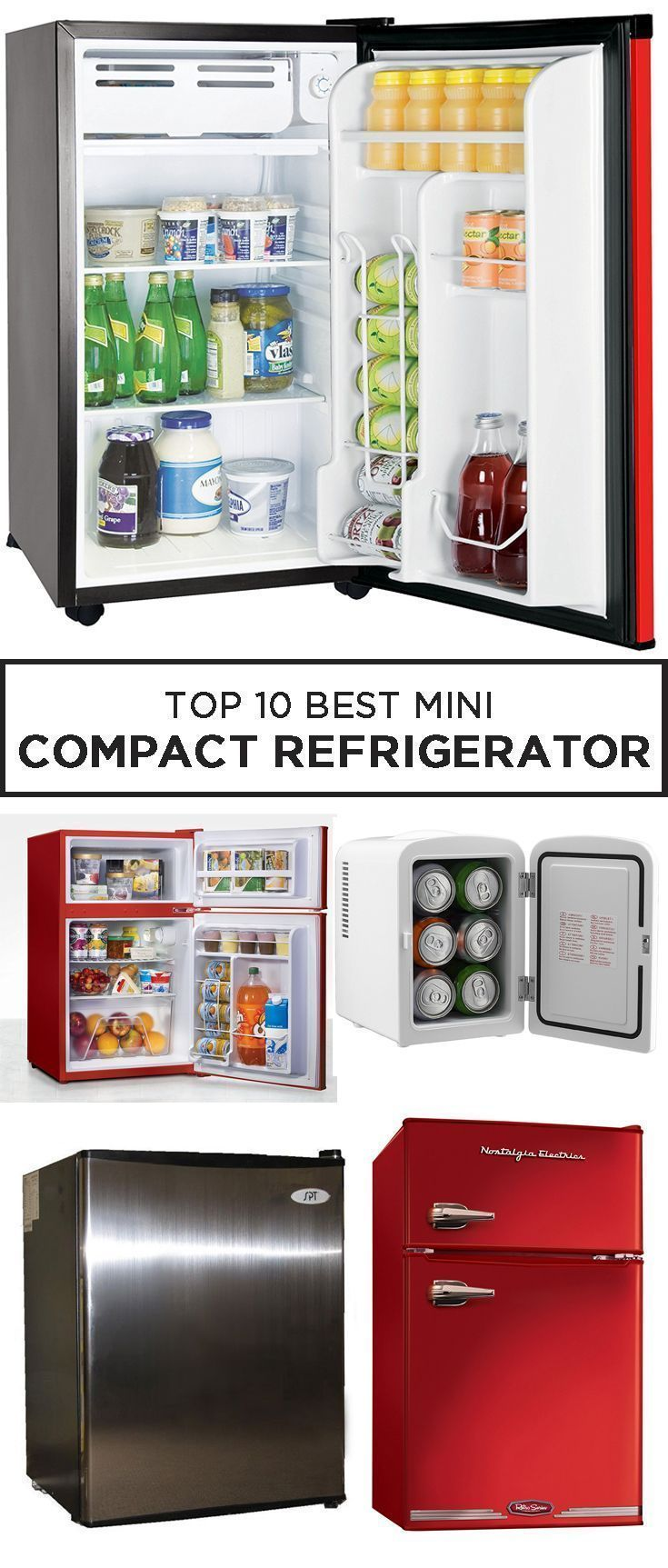 The 10 Best Mini Compact Refrigerators For A Perfectly Cool Beer Small Refrigerator Compact Refrigerator Mini Fridge In Bedroom