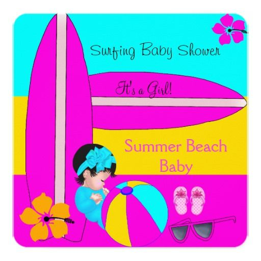 Summer Baby Shower Girl Beach Baby Surfing Baby 5