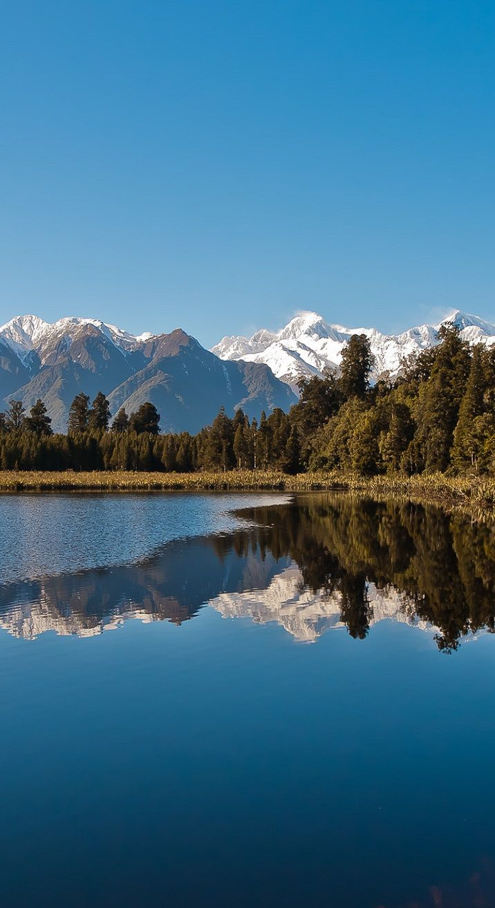 Lake Matheson (New Zealand) just after the sunrise