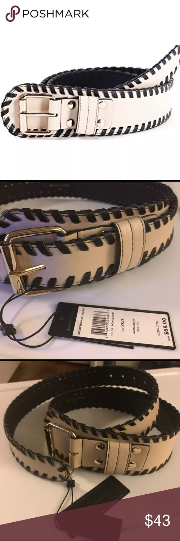 BCBGMAXAZRIA 🎀 Wide Braid Edged Faux Leather Belt BCBG MAXAZRIA Womens Wide Braid Edged Faux Leather Belt Beige/Off White XS/S. Braided brim design to decorate your dresses. Would look fantastic with your fave LBD! New with Tag. Original Price $68 BCBGMaxAzria Accessories Belts