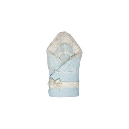 """Сонный гномик Конверт-одеяло """"Жемчужинка"""", Сонный гномик, голубой  — 2890р.  Меховой конверт «Сонный гномик» подходит для выписки из роддома и дальнейшего использования в качестве конверта или одеяла. Из конверта получается полноценное квадратное одеяло. Съемный пояс декорирован атласным бантом, который украшен розочками. В комплекте «Жемчужинка» предусмотрена съемная вуаль, чтобы защитить личико малыша от нежелательных взглядов. Вуаль крепится к капюшону с помощью липучки. Вязаная шапочка…"""