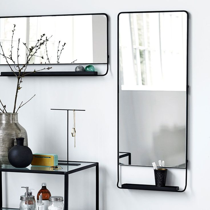 Our best selling mirrors with a shelf - adding minimalistic scandi look to your interiors