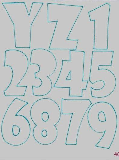 patrones de letras fomiart  abombadas