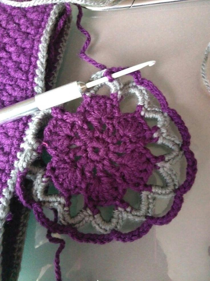 Ωραία πράγματα ετοιμάζονται... #crochet #handmade #creations #motifs #newproject #purple #grey #mywork #metaxerakiamou #neraidodhmiourgies
