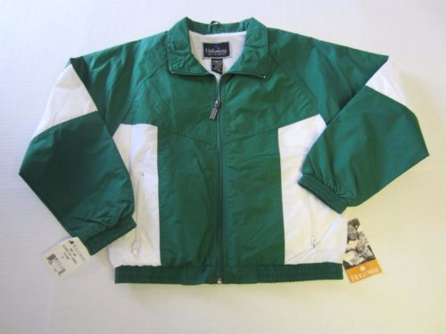 Jacket-Youth-M-Holloway-Green-White-Windbreaker-Lined-Athletic-NEW-CLEARANCE