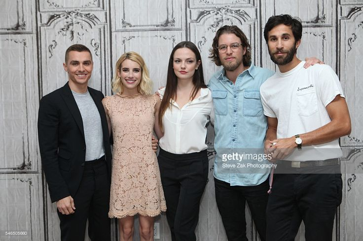Dave Franco, Emma Roberts, Emily Meade, Henry Joost and Rel Schulman attend AOL Build Speaker Series: 'Nerve' at AOL HQ on July 12, 2016 in New York City.
