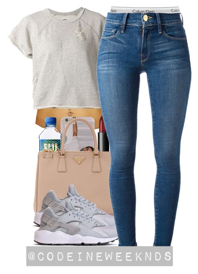 7:31:15 by codeineweeknds on Polyvore featuring polyvore, fashion, style, NSF, Frame Denim, Calvin Klein Underwear, Prada and NARS Cosmetics
