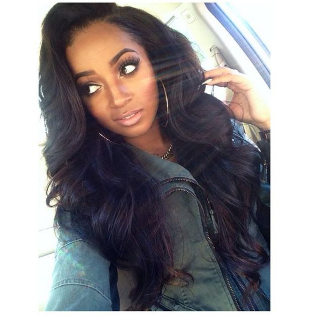 Long waves weave hairstyle http://www.hairstylo.com/2015/07/weave-hairstyles.html