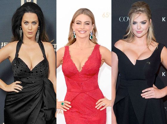 Celebrity Breast Sizes Revealed: Sofía Vergara, Kate Upton and More—Take a Look!  Katy Perry, Sofia Vergara, Kate Upton
