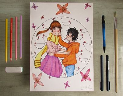 """Check out new work on my @Behance portfolio: """"Shizuku and Haru commission."""" http://be.net/gallery/41503413/Shizuku-and-Haru-commission"""