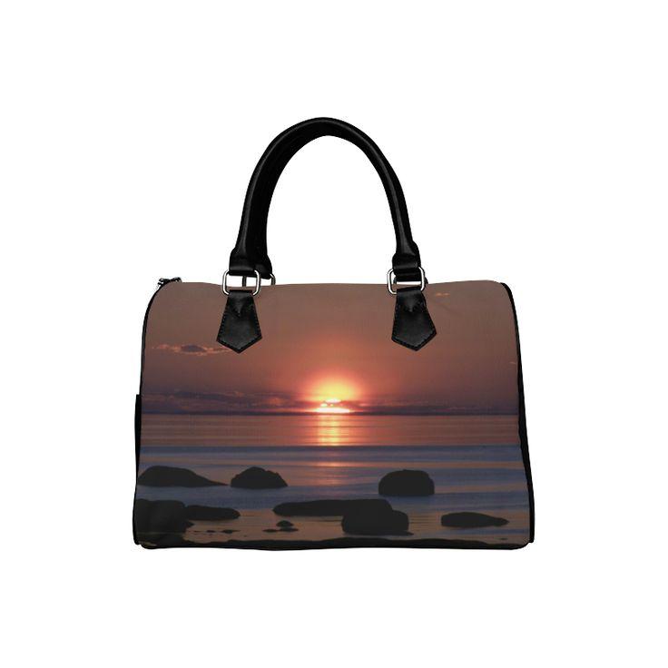 Shockwave Sunset Boston Handbag (Model 1621)