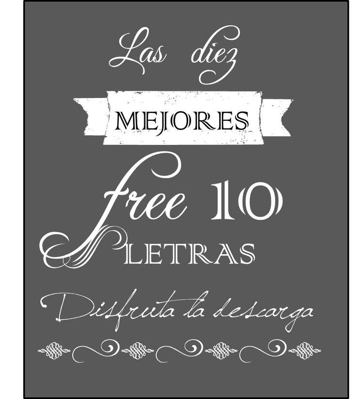 Fuentes de letras gratis para tus carteles