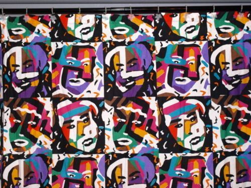 Marvelous 80s Vintage Rare Missoni Iconic Tu0026J Vector Bold Colorful Faces Shower  Curtain