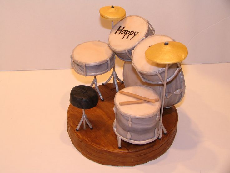 How To Make A Drum Kit Cake Topper