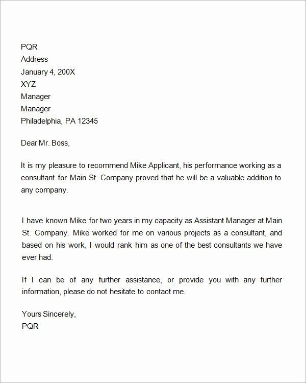 Professional Reference Letter Template Word Best Of 7 Re Mendation Letters For Employm Reference Letter Professional Reference Letter Reference Letter Template