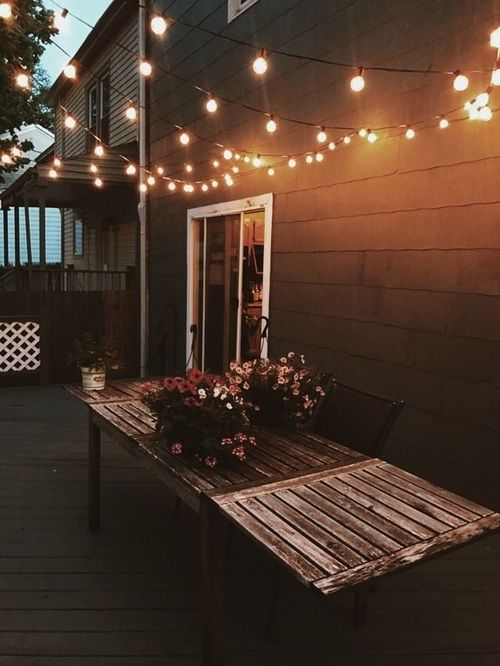A Close Zig Zag Pattern Of Patio Lights Uniformly Spreads Out The Light For  Your