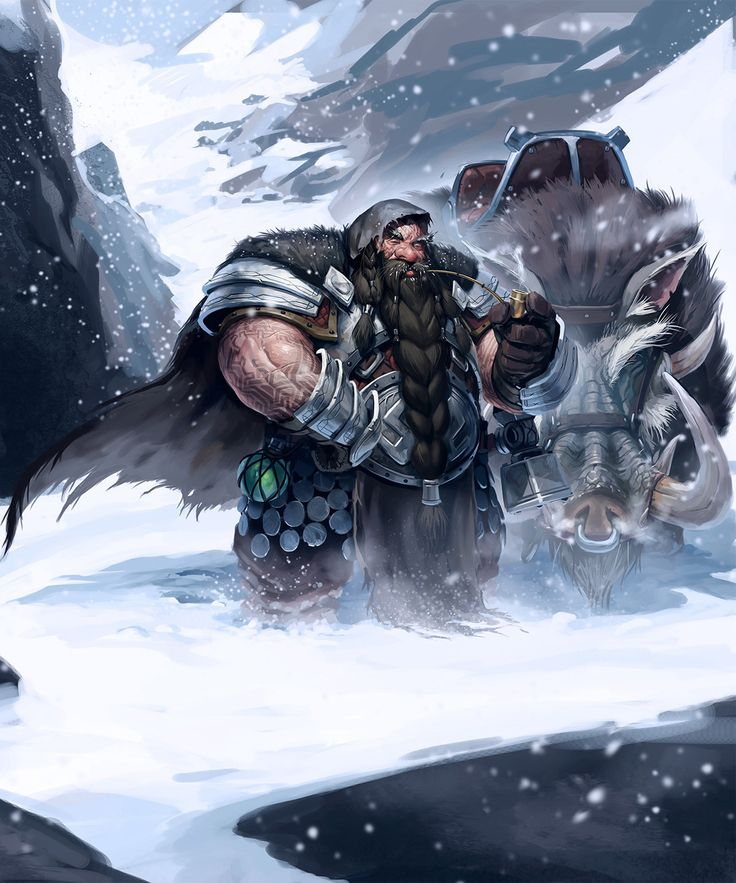 """The Dwarves 2 by Paul Mafayon. ArtStation   cover for french edition """"Les nains tome 2 : Lame de feu """"  Markus Heitz"""