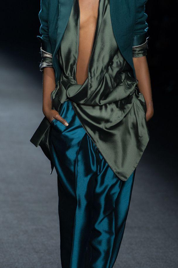 Haider Ackermann drapes and beautiful ocean colours