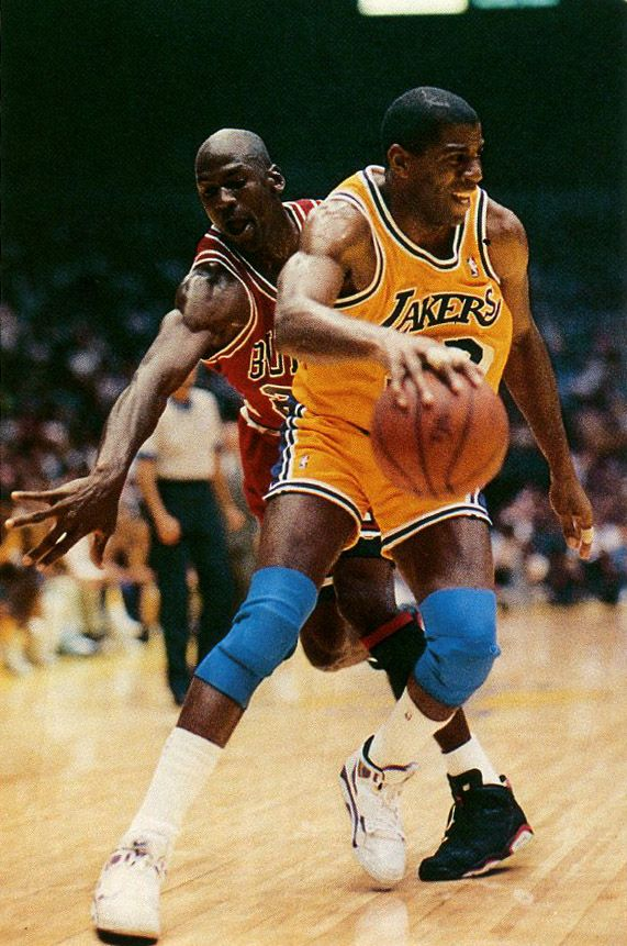 2 greatest basketball players of all time. Of course Magic, the Jordan
