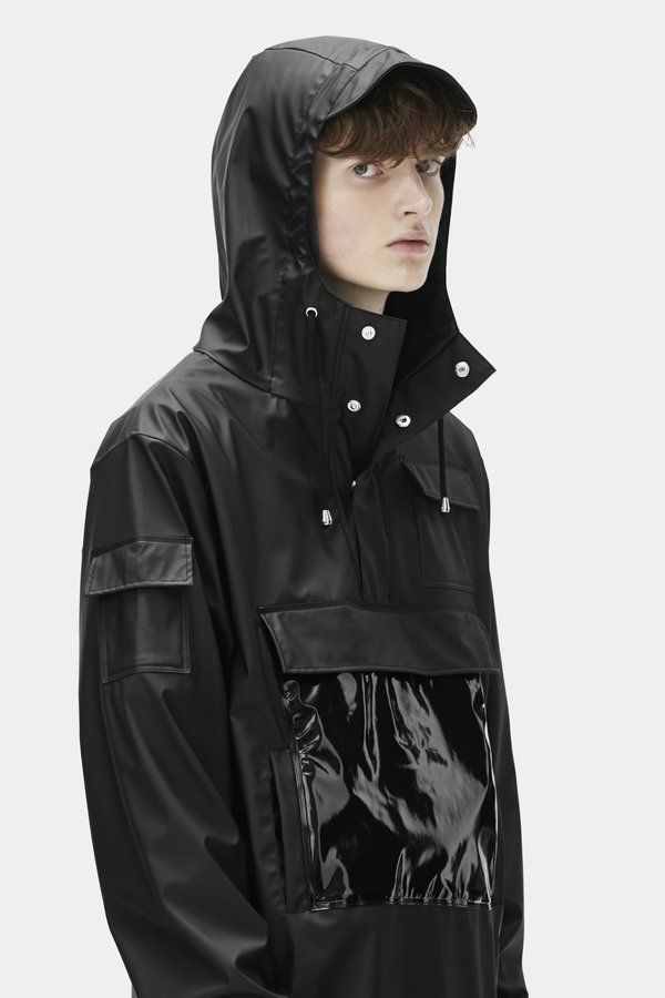 c7f0107ad Unisex Rains Glossy Camp Anorak - Black | SHINE & WHITE | Jackets ...