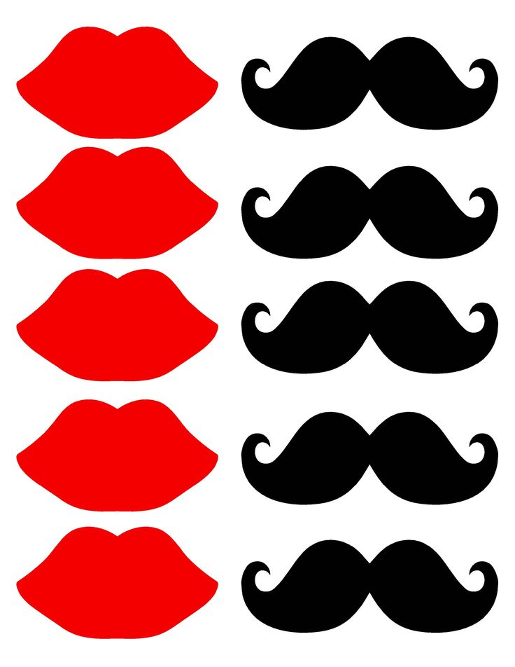 Mustache And Lips Printables