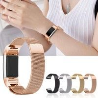 Wish | Durable And Elegant Milanese Loop Stainless Steel Metal Watch Band Strap Bracelet For Fitbit Charge 2