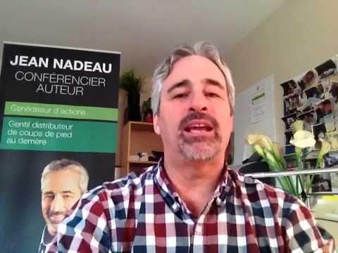 Les2arts est fier de vous présenter la première capsule vidéo de l'Expert Jean Nadeau. Il vous proposera une série de vidéos où l'objectif est de vous rappeler de façon audacieuse à vous mettre en ACTION... Mais attention, c'est à vous de passer à l'ACTION, c'est votre responsabilité! Francine Laporte, créatrice de liens et d'actions • les2arts.com