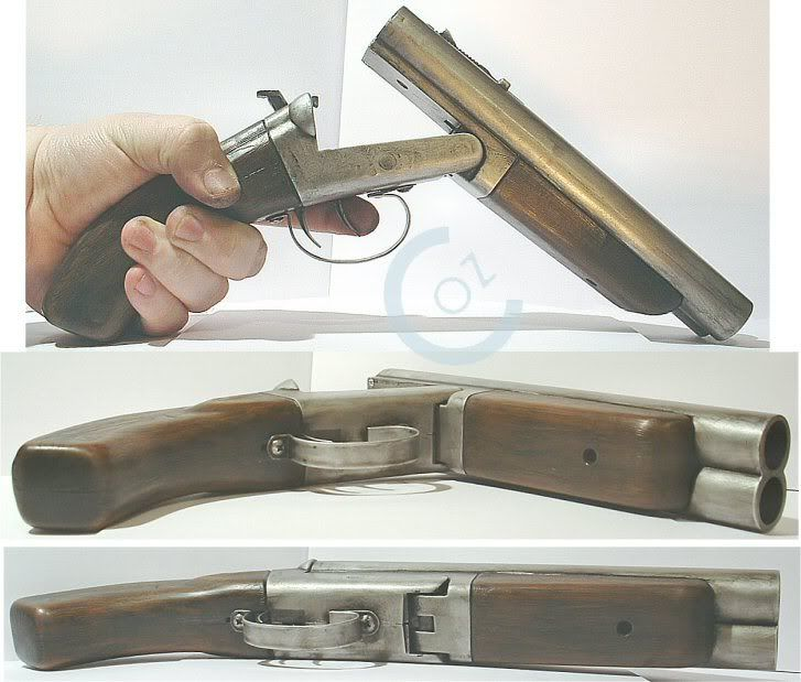 Ultra short 2x barrel shotgun. Wrist injury anyone?